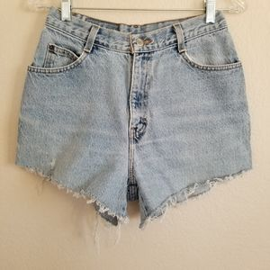 Vintage Gitano Light Wash Cut Off Denim Shorts 26